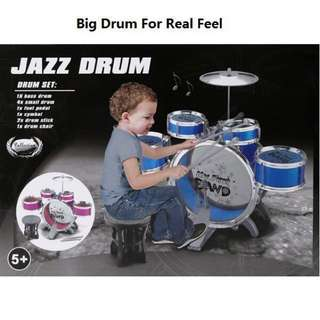 Best Selling‼️Drum Set with Chair Music Toy Instrument for Kids