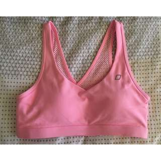 ALMOST NEW M Lorna Jane Pink Sports Bra Crop Top Gym Yoga Pilates Exercise F45