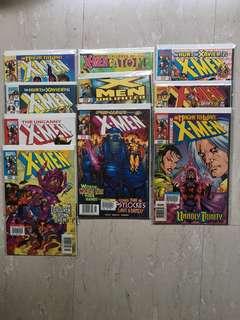 10 copies of X-Men Comics