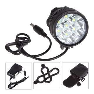 LED Bicycle Light 8400 Lumen 7x XM-L T6, Black