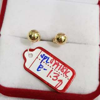 Ball Earrings 18karat Saudi Gold