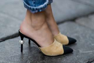 CHANEL INSPIRED PEARL HEELS