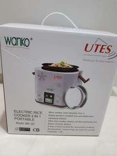 BNIB Wanko Rice cooker and steamer 2-in-1 (1.5L)