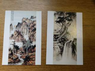 Chinese Paintings Postcards