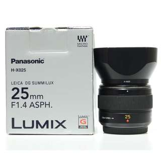 Panasonic Leica DG SUMMILUX Lumix 25mm F1.4 ASPH. Lens