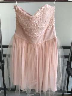 Sewa/Rent Gown Mini Dress Peach