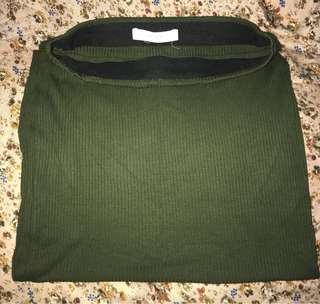 Green Bandage Skirt by Mango