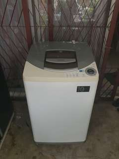 Used Hitachi washer 9.5kg washing machine mesin basuh fully automatic stainless steel drum in good condition