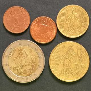 Euro mixed coins