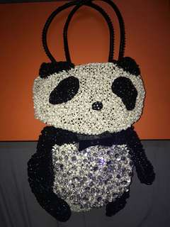 Antiprima panda hand knit bag
