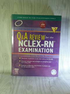 🏍Saunder Q & A Review for the NCLEX-RN Examination Edition 3 (Free Shipping)