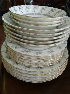 Porcelain set of plates