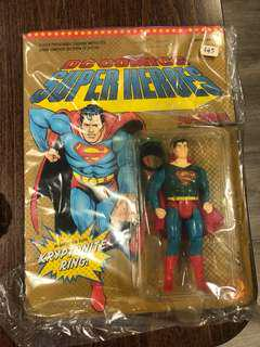 Superman figurine with ring