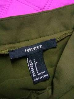 Forever 21 Army Green Tennis skirt
