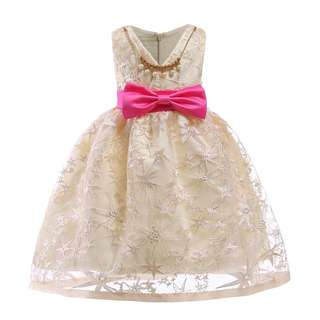 (ready stock) red ribbon princess gown with accessory