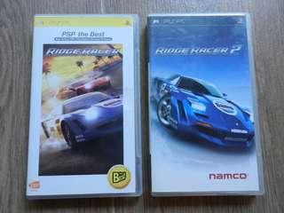 Ridge Racer + Ridge Racer 2, Sony PSP, good condition