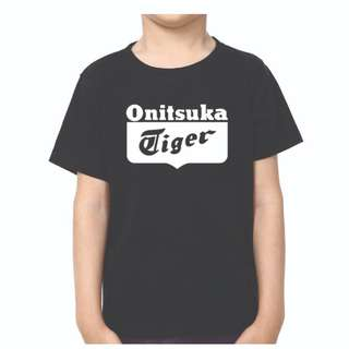 ONITSUKA TIGER KIDS BLACK TSHIRT