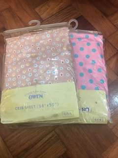 Take All OWEN Brand 100% Cotton Baby Crib Bed Sheet