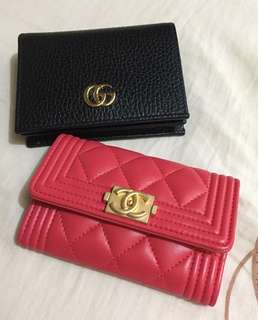 Chanel coins bag/ card case