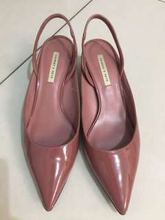 Charles & Keith Old Rose Slingback Kitten Heels
