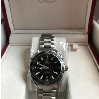 OMEGA SEAMASTER Planet Ocean Newly Serviced Authentic Omega Watch with Original Documentation and Box