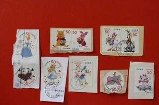 包平郵 日本郵票 迪士尼 Disney 面值50円一套