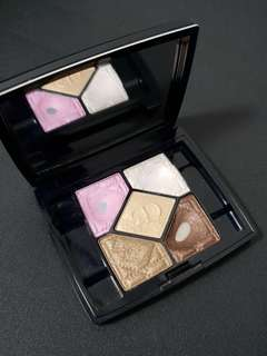 Christian Dior 5 Colours Eyeshadow Palette! #726 Pink Breeze. Shimmer white Sweet pink gold bronze dark brown with mirror