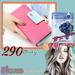 Long wallet with FREE face mask