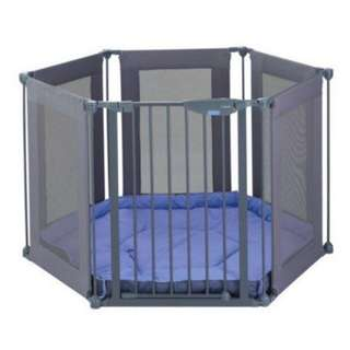 PRELOVED LINDAM safe and secure fabric playpen (4 in 1) - in excellent condition with very minor flaw