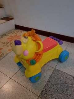 費雪快樂獅子2合1學步車