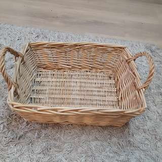 Square Rattan Basket with Side Handles N Oval Basket with long handle