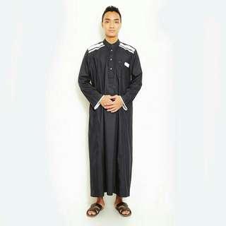 Al isra jubah cardova hitam pakaian gamis pria S-XXL