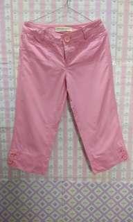 Giordano 7/8 Pink Pants