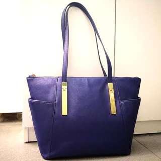 M&S 女裝時尚型格深藍色手袋 M&S Women's Fashion Blue Color Leather Handbag