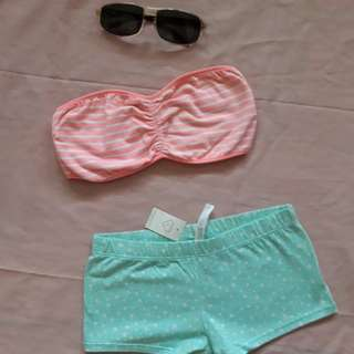BUNDLE Sexy REVERSIBLE PINK Top and BLUE Bottom