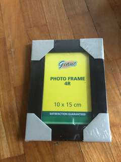 Brand new dark solid brown wooden photo frame for home decor