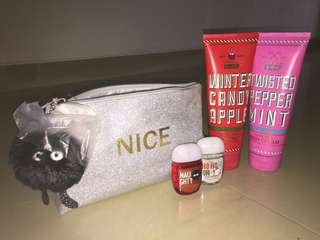 Bath and Body Works Pouch Gift Set body cream pocketbac