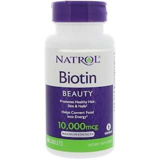 Ready Stock Natrol, Biotin, 10,000 mcg, 100 Tablets