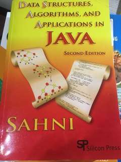 Data structure,algorithms,and applications in java