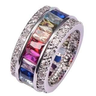 Buried ring Gemstones genuine Nine colors