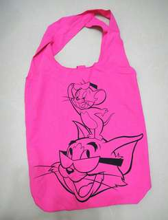 mi-tu x Tom & Jerry Shocking Pink Shopping Bag 深粉紅色 環保袋