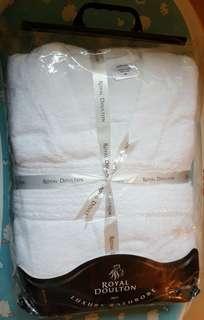 全新純白浴袍