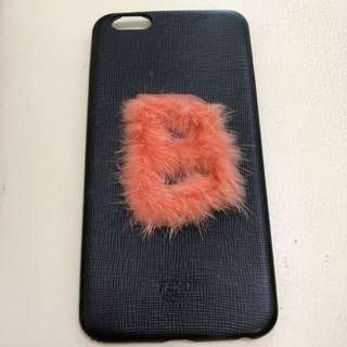 100% Real Fendi Iphone plus Case Letter B Fur