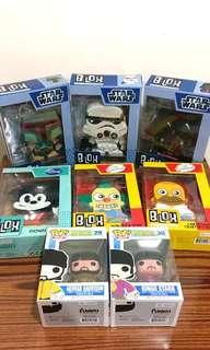 大量figures公仔 Star Wars Simpsons Mickey Mouse Disney Beatles Funko