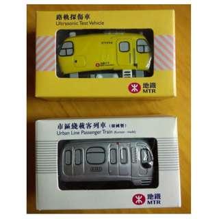 地鐵 路軌探傷車 市區線載客列車 絕版 MTR 地鐵公司 紀念品