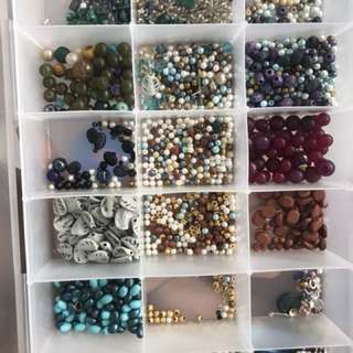 Jewelry supplies - assorted beads set