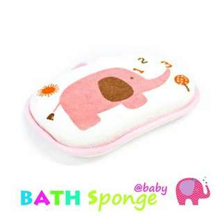 Little Elephant Baby Bath Sponge - PINK