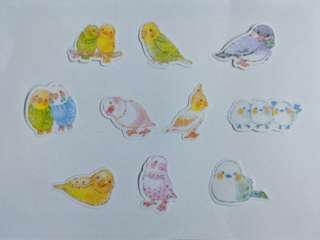 🚚 [BN] Cute Bird Flake Stickers (Yellow Ver)