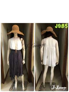 🚚 J985轉Air Space雪紡浪漫無袖短洋長上衣blouse J-Lounge