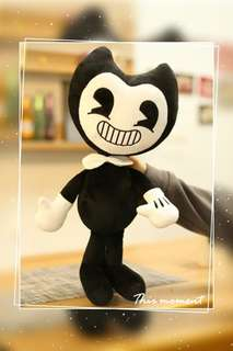 🚚 (Ready Stock) 50cm Bendy And The Ink Machine Stuff Toys With Free Gift 17cm Bendy Keychain